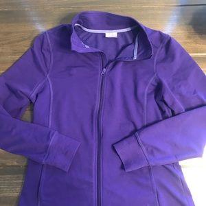 Danskin Now Purple Zip Up Sweatshirt